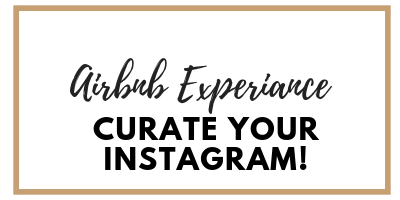 Come on my airbnb experiance and learn to curate your instagram!